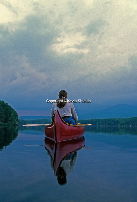 Canoeing in Baxter State Park, Maine, USA