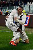 2nd February 2019, Allianz Stadium, Turin, Italy; Serie A football, Juventus versus Parma; Cristiano Ronaldo of Juventus celebrates after scoring the goal for 1-0 for Juventus in the 36th minute with Balise Matuidi