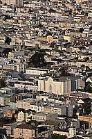 Urban congestion, from Twin Peaks, San Francisco, California