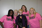 "Young and Restless' Maura West given a ""West"" shirt by fans - Team West = Domonique Powell (MD), Gayle Byron (ALA), Shannon Rosenthal (MIN) and Ami Martin (ALA) at the Soapstar Spectacular starring actors from OLTL, Y&R, B&B and ex ATWT & GL on November 20, 2010 at the Myrtle Beach Convention Center, Myrtle Beach, South Carolina. (Photo by Sue Coflin/Max Photos)"