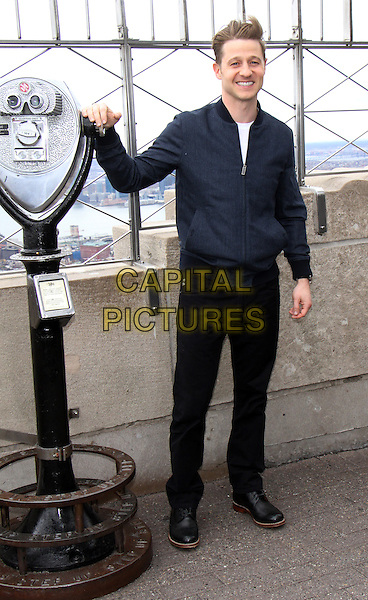 NEW YORK, NY - NOVEMBER 21:  Ben McKenzie at The Empire State Building Observation Deck in New York City promoting the current season of FOX's Gotham on November 21, 2016. <br /> CAP/MPI/RW<br /> &copy;RW/MPI/Capital Pictures