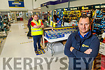 Gerry Lynch, manager of Chadwicks with Mike Regan as they reopen on Monday morning.