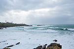 Brittany West Coast battered by Storm Imogen, France.<br /> Pointe Saint Mathieu.