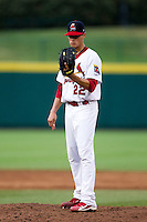 Joe Kelly (22) of the Springfield Cardinals on the mound during a game against the Northwest Arkansas Naturals at Hammons Field on July 31, 2011 in Springfield, Missouri. Northwest Arkansas defeated Springfield 9-1. (David Welker / Four Seam Images)