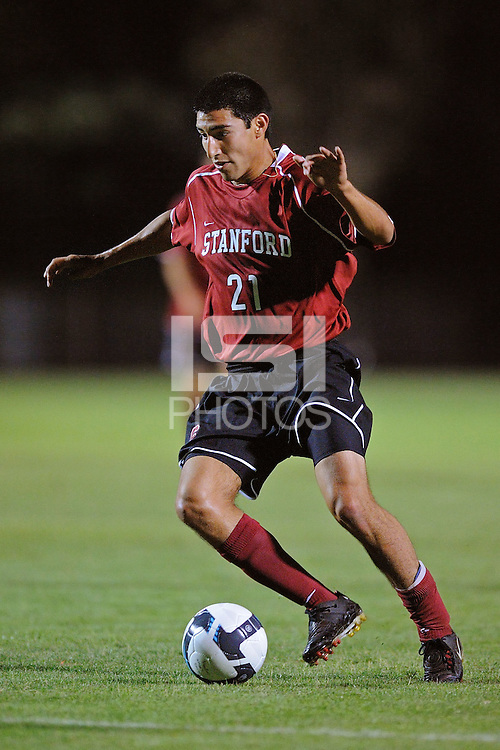 STANFORD, CA - AUGUST 25:  Daniel Leon of the Stanford Cardinal during Stanford's 0-0 tie with the St. Mary's Gaels at Laird Q. Cagan Stadium on August 25, 2009 in Stanford, California.