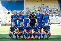 Seattle, WA - Sunday, May 1, 2016: Seattle Reign FC starting IX for a National Women's Soccer League (NWSL) match at Memorial Stadium.