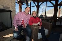 NWA Democrat-Gazette/J.T. WAMPLER  Nancy and Joe Mueller, volunteers for the American Heart Association, in their Rogers home Jan. 28, 2016,
