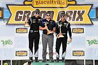#12 eEuroparts.com Racing, Audi RS3 LMS TCR, TCR: Kenton Koch, Tom O'Gorman, celebrates the win in victory lane