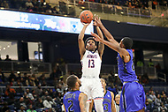 Washington, DC - December 22, 2018: Howard Bison guard Charles Williams (13) attempts a shot during the DC Hoops Fest between Hampton and Howard at  Entertainment and Sports Arena in Washington, DC.   (Photo by Elliott Brown/Media Images International)