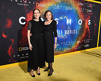 "LOS ANGELES - FEBRUARY 26: Producer Sasha Sagan (L) and writer Ann Druyan attend National Geographic's 2020 Los Angeles premiere of ""Cosmos: Possible Worlds"" at Royce Hall on February 26, 2020 in Los Angeles, California. Cosmos: Possible Worlds premieres Monday, March 9 at 8/7c on National Geographic. (Photo by Frank Micelotta/National Geographic/PictureGroup)"