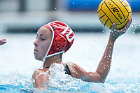 Stanford, CA - March 23, 2019: Kat Klass during the Stanford vs. Harvard women's water polo game at Avery Aquatic Center Saturday.<br /> <br /> The Cardinal won 20-7.