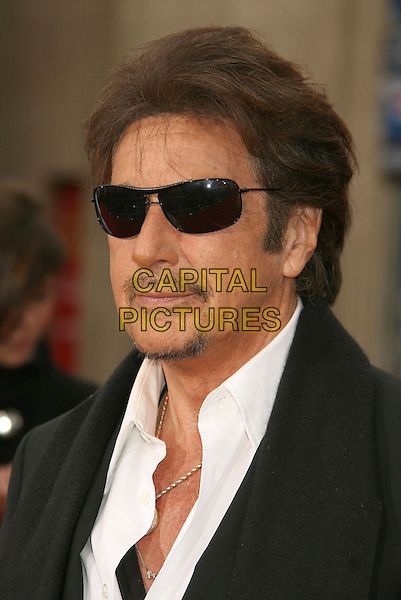"AL PACINO .""Ocean's Thirteen"" Los Angeles Premiere held at Grauman's Chinese Theatre, Hollywood, California, USA..June 5th, 2007.headshot portrait goatee facial hair sunglasses shades.CAP/ADM/RE.©Russ Elliot/AdMedia/Capital Pictures"