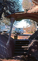 Paolo Soleri: Cosanti Foundation, Scottsdale--entrance. Photo '77.