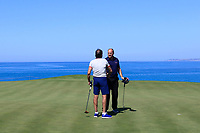 Sir Rocco Forte plays a challenge match with Sky Sports Commentator ahead of the third round of the Rocco Forte Sicilian Open played at Verdura Resort, Agrigento, Sicily, Italy 12/05/2018.<br /> Picture: Golffile | Phil Inglis<br /> <br /> <br /> All photo usage must carry mandatory copyright credit (&copy; Golffile | Phil Inglis)