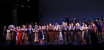 "Britney Coleman, Reed Birney, Vanessa Williams, Nancy Opel, Tam mutu, Alexandra Socha, Bebe Neuwirth, Joel Grey, Bob Martin, Clifton Duncan, Douglas Sills, Clyde Alves, Marc Kudisch, Alexandra Socha, Judy Kuhn and Carolee Carmello during the final performance curtain call for the New York City Center Encores! at 25 production of  ""Hey, Look Me Over!"" on February 11, 2018 at the City Center Theatre in New York City."