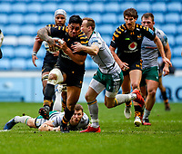 5th January 2020; Ricoh Arena, Coventry, West Midlands, England; English Premiership Rugby, Wasps versus Northampton Saints; Malakai Fekitoa of Wasps breaks two tackles to enable Wasps to score their first try - Editorial Use