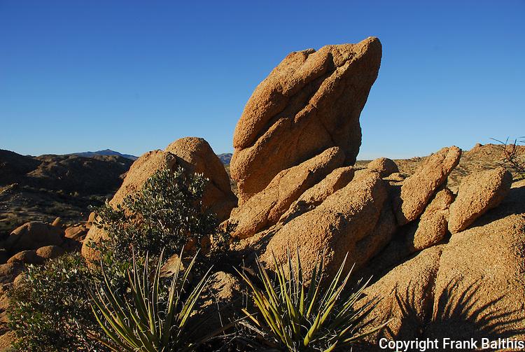 rock formation at Joshua Tree NP