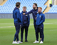 The Blackburn Rovers players inspect the pitch before kick off<br /> <br /> Photographer David Shipman/CameraSport<br /> <br /> The EFL Sky Bet Championship - Sheffield Wednesday v Blackburn Rovers - Saturday 16th March 2019 - Hillsborough - Sheffield<br /> <br /> World Copyright &copy; 2019 CameraSport. All rights reserved. 43 Linden Ave. Countesthorpe. Leicester. England. LE8 5PG - Tel: +44 (0) 116 277 4147 - admin@camerasport.com - www.camerasport.com