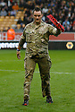 Sapper Clive Smith acknowledges the crowd<br />  - Wolverhampton Wanderers v Stevenage - Sky Bet League One - Molineux, Wolverhampton - 2nd November 2013. <br /> © Kevin Coleman 2013