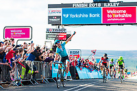 Picture by Alex Whitehead/SWpix.com - 04/05/2018 - Cycling - 2018 Tour de Yorkshire - Stage 2: Barnsley to Ilkley - Astana's Magnus Cort Nielsen wins Stage 2.