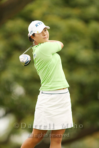 Feb 25, 2006; Kapolei, HI, USA;  Meena Lee tees off on the 3rd and final playoff hole during the final round of the inaugural LPGA Fields Open at Ko Olina Resort. ..Photo Credit: Darrell Miho .Copyright © 2006 Darrell Miho