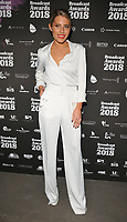 Mollie King at the Broadcast Awards 2018, Grosvenor House Hotel, Park Lane, London, England, UK, on Wednesday 07 February 2018.<br /> <br /> CAP/CAN<br /> &copy;CAN/Capital Pictures
