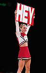 University of Wisconsin cheerleader during the Butler game at the Kohl Center in Madison, WI, on 1/30/01. Butler beat Wisconsin 58-44. (Photo by David Stluka)