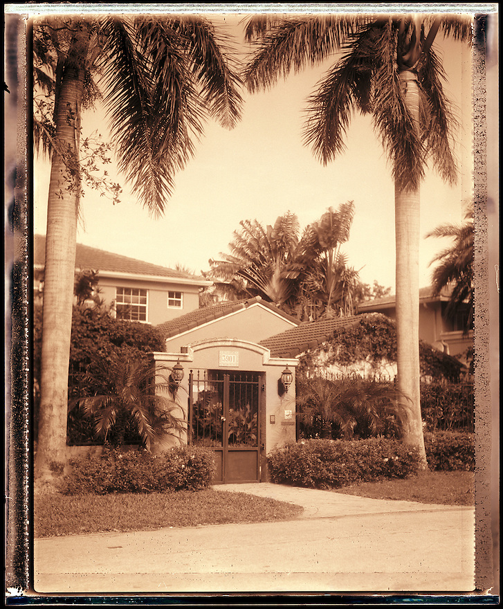 Denise Calvo's former Coconut Grove, Florida home where her husband Jose Calvo was gunned down, photographed for Ocean Drive on January 13, 2006