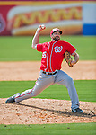 29 February 2016: Washington Nationals pitcher Taylor Hill on the mound during an inter-squad pre-season Spring Training game at Space Coast Stadium in Viera, Florida. Mandatory Credit: Ed Wolfstein Photo *** RAW (NEF) Image File Available ***