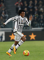 Calcio, semifinali di andata di Coppa Italia: Juventus vs Inter. Torino, Juventus Stadium, 27 gennaio 2016.<br /> Juventus' Juan Cuadrado in action during the Italian Cup semifinal first leg football match between Juventus and FC Inter at Juventus stadium, 27 January 2016.<br /> UPDATE IMAGES PRESS/Isabella Bonotto