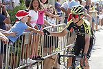 Jhoan Esteban Chaves (COL) Mitchelton-Scott arrives at sign on before Stage 6 of La Vuelta 2019 running 198.9km from Mora de Rubielos to Ares del Maestrat, Spain. 29th August 2019.<br /> Picture: Luis Angel Gomez/Photogomezsport | Cyclefile<br /> <br /> All photos usage must carry mandatory copyright credit (© Cyclefile | Luis Angel Gomez/Photogomezsport)