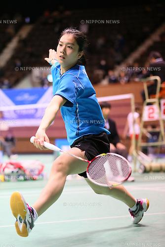 Aya Ohori (JPN), DECEMBER 4, 2013 - Badminton : The 67th All Japan Badminton Championships 2013, Women's Singles at Yoyogi 2nd Gymnasium, Tokyo, Japan. (Photo by AFLO SPORT) [1156]