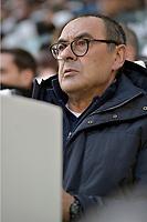 2nd February 2020; Allianz Stadium, Turin, Italy; Serie A Football, Juventus versus Fiorentina; Maurizio Sarri, the coach of Juventus