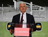 Alessandro Profumo CEO Leonardo<br /> Cerimonia di consegna della 1500 fusoliera di un ATR costruita  nella Leonardo di Pomigliano D'arco<br /> <br /> Ceremony of Delivery  of 1500th   fusolage  at ATR by Leonardo plant in Pomigliano d'arco