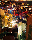 TURKEY, Istanbul, high angle view of Beyoglu District at night