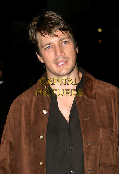 "NATHAN FILLION.UK Premiere of ""Serenity"" at the Odeon Leicester Square, London.October 5th, 2005.Ref: AH.headshot portrait.www.capitalpictures.com.sales@capitalpictures.com.© Capital Pictures."
