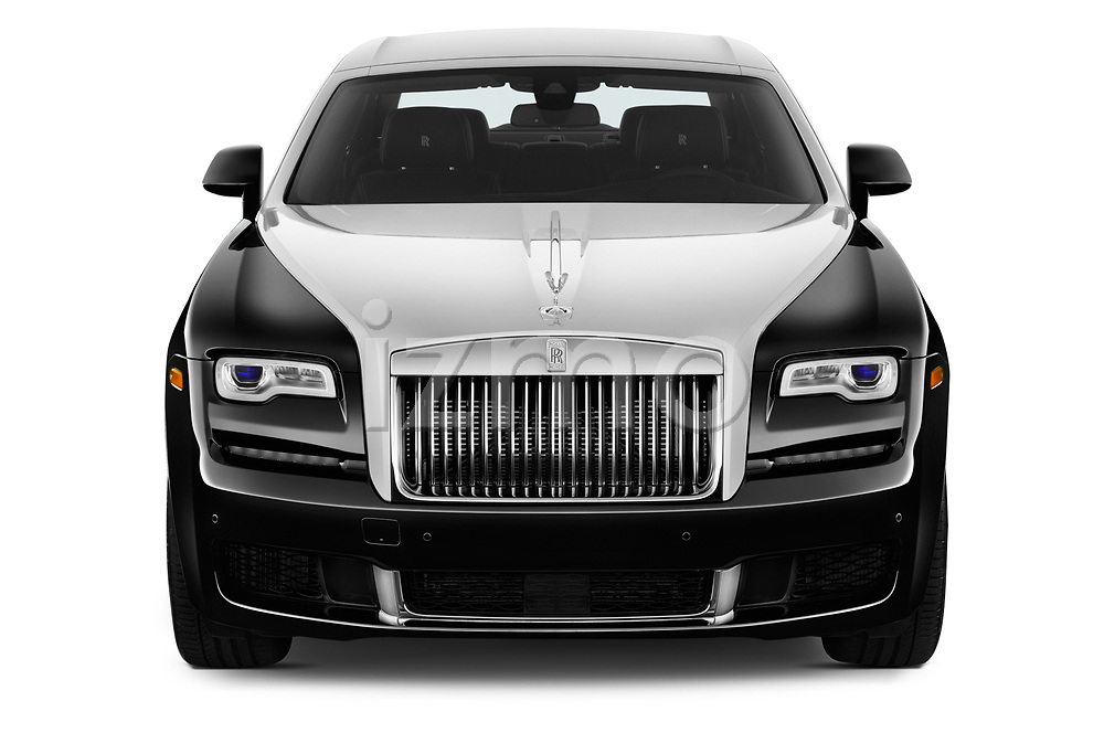 Car photography straight front view of a 2016 Rollsroyce ghostsd1ra Base 4 Door Sedan