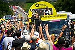 The publicity caravan ahead of the race during Stage 3 of the 2018 Tour de France a Team Time Trial running 35.5km from Cholet to Cholet (35,5km, France. 9th July 2018. <br /> Picture: ASO/Bruno Bade | Cyclefile<br /> All photos usage must carry mandatory copyright credit (&copy; Cyclefile | ASO/Bruno Bade)