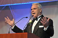Tom Beckett opening the program. Yale University Department of Athletics Blue Leadership Ball 2009. Formal Dinner at the Lanman Center, Presentation of Awards to Blue Leader Honorees and Speaches.