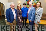 Paddy and Maureen Weir, Ryan Houlihan, Mike Parker and Clodagh Houlihan attending the Crotta Social in the Ballyroe Heights Hotel on Friday.
