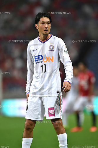Yojiro Takahagi (Sanfrecce),<br /> AUGUST 16, 2014 - Football / Soccer :<br /> 2014 J.League Division 1 match between Urawa Red Diamonds 1-0 Sanfrecce Hiroshima at Saitama Stadium 2002 in Saitama, Japan. (Photo by AFLO)