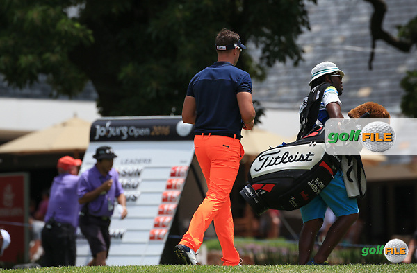 Bjorn Akesson (SWE) led the field after 8 holes but the 9th was his undoing  during the Final Round of the 2016 Joburg Open Celebrating 10 years, played on the East Course at the Royal Johannesburg and Kensington Golf Club, Gauteng, Johannesburg, South Africa.  17/01/2016. Picture: Golffile | David Lloyd<br /> <br /> All photos usage must carry mandatory copyright credit (&copy; Golffile | David Lloyd)