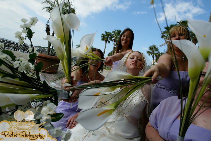 Saturday, April 19 2008, during the the wedding of Heather Degenhardt to Eric Haroldson at the Casements in Ormond Beach. (Chad Pilster)