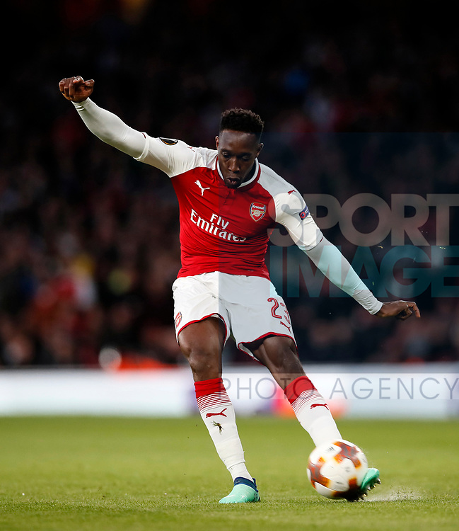 Arsenal's Danny Welbeck in acion during the Europa League Semi Final 1st Leg, match at the Emirates Stadium, London. Picture date: 26th April 2018. Picture credit should read: David Klein/Sportimage