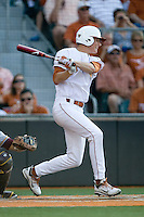 Texas Longhorn third baseman Erich Weiss #6 at bat against the Arizona State Sun Devils  in NCAA Tournament Super Regional Game #3 on June 12, 2011 at Disch Falk Field in Austin, Texas. (Photo by Andrew Woolley / Four Seam Images)