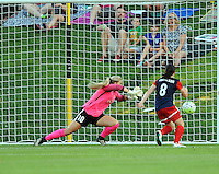 Boyds, MD - Saturday June 25, 2016: Caroline Stanley, Diana Matheson during a United States National Women's Soccer League (NWSL) match between the Washington Spirit and Sky Blue FC at Maureen Hendricks Field, Maryland SoccerPlex.