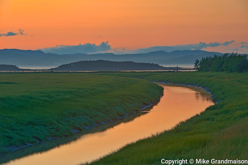 Sunset light over creek<br />