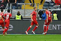 celebrate the goal, Torjubel zum 1:1 Ausgleich von Simon Terodde (VfB Stuttgart) - 30.09.2017: Eintracht Frankfurt vs. VfB Stuttgart, Commerzbank Arena