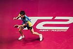 Koki Niwa (JPN) vs Zhendong Fan (CHN) in their Men Singles Round of 16 match during the Seamaster Qatar 2016 ITTF World Tour Grand Finals at the Ali Bin Hamad Al Attiya Arena on 9 December 2016, in Doha, Qatar. Photo by Victor Fraile / Power Sport Images