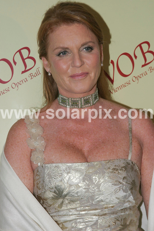 ALL ROUND PICTURES BY SOLARPIX.COM .Sarah Ferguson - 52nd  Annual Viennese Opera Ball - The Waldorf Astoria - New York, NY.JOB REF:   PHZ   DATE: 26.01.07.**MUST CREDIT SOLARPIX.COM OR DOUBLE FEE WILL BE CHARGED**